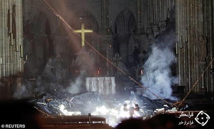 چه گنجینه هایی در کلیسای نوتردام حفظ و نابود شده اند؟ +تصاویر