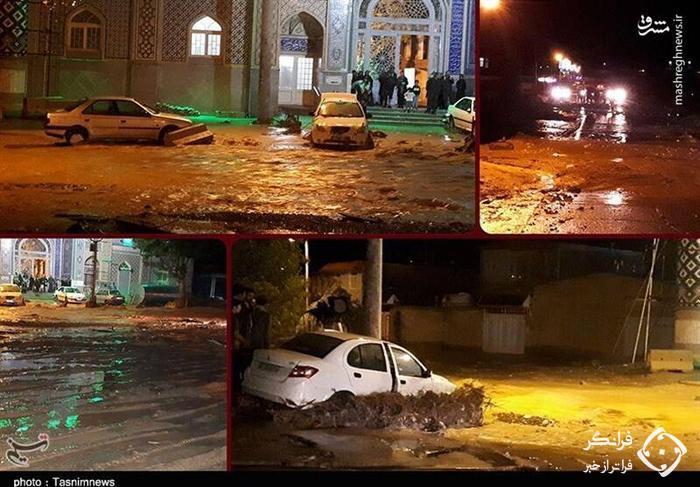 اولین تصاویر از سیلاب مرگبار در مشهد اردهال