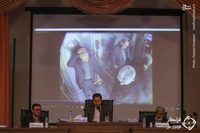 نجفی دقایقی پس از قتل همسرش +عکس