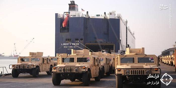 آمریکا ده ها جیپ زرهی برای ارتش لبنان فرستاد +عکس