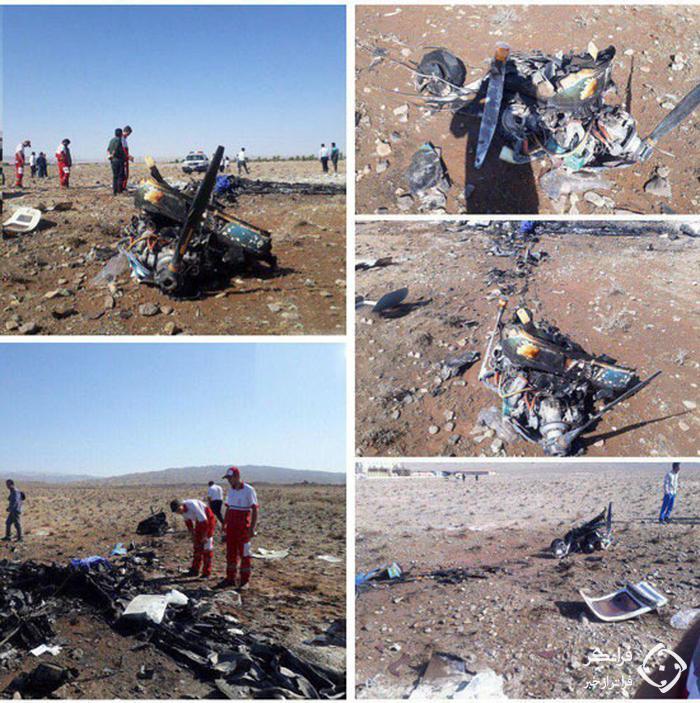 تصاویری از سقوط هواپیمای تفریحی در سمنان