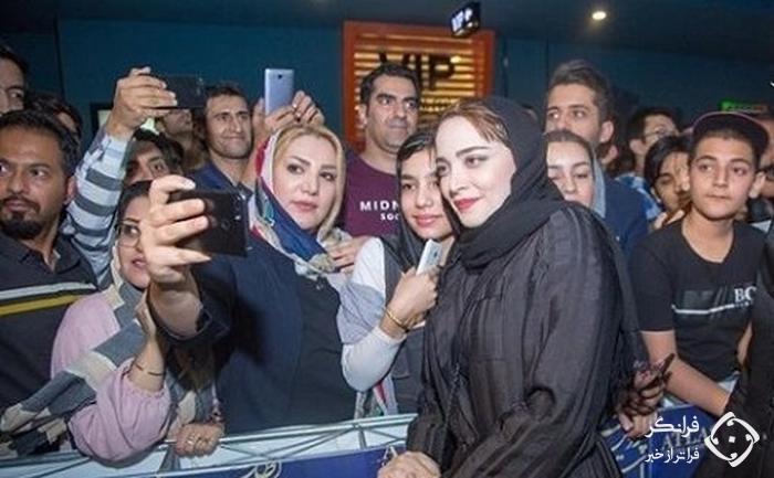 بهنوش طباطبایی در اکران مردمی ماجرای نیمروز در مشهد