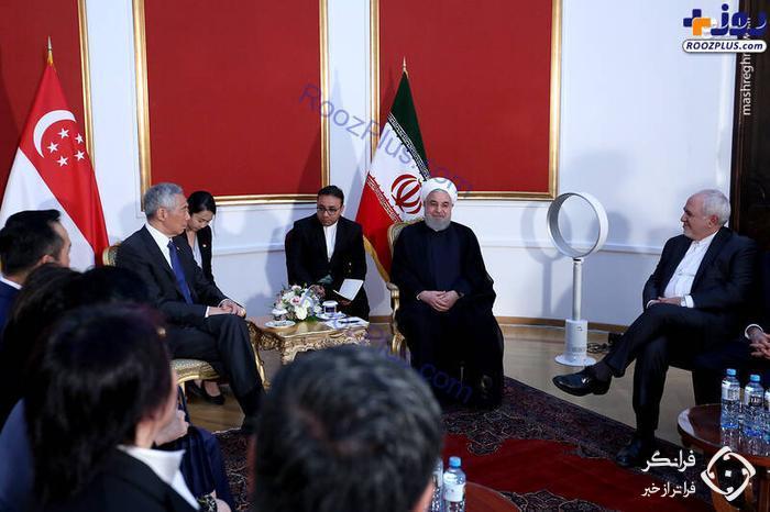 پنکه حسن روحانی در سفر به ارمنستان/عکس