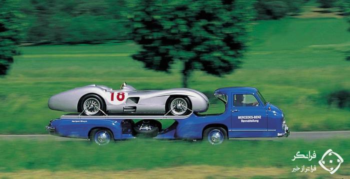 عجیب ترین کامیون ها: حمل کننده خودروهای مسابقه ای مرسدس بنز