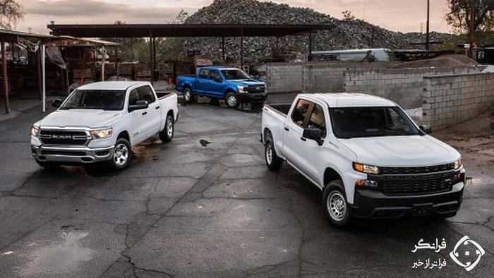 آمار فروش پیکاپ های بازار آمریکا، جنرال موتورز بالاتر از فورد