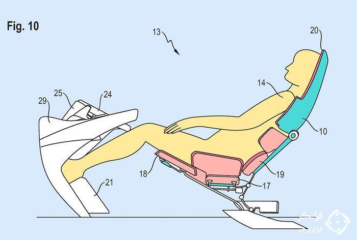 صندلی جالب پورشه برای خودروهای خودران