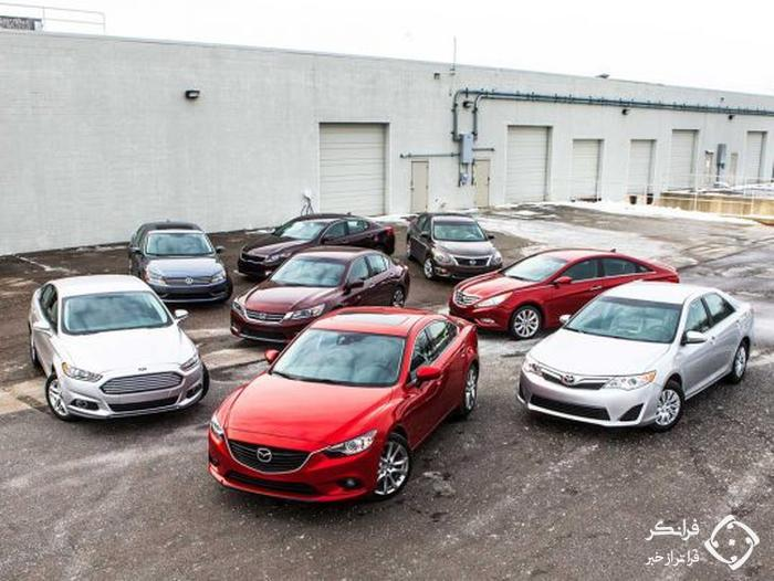 کاهش 50 درصدی سهم سدان های میان سایز از بازار خودروی ایالات متحده