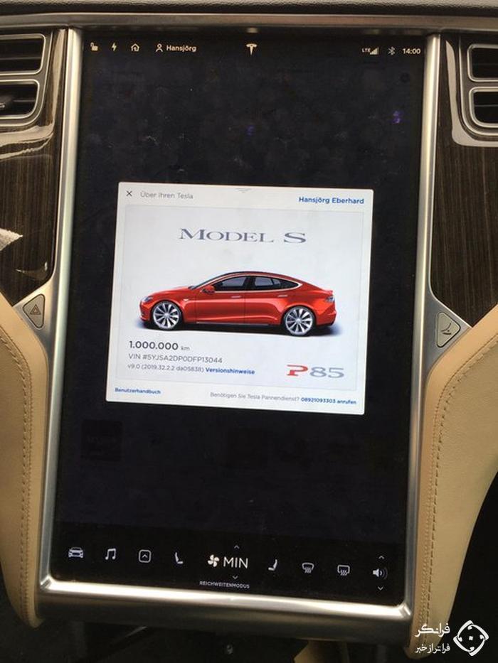 تسلا مدل S با کارکرد 1 میلیون کیلومتر!