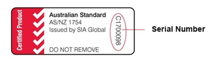 شکل 2. برچسب تأییدیه استاندارد صندلی ایمنی کودک در استرالیا