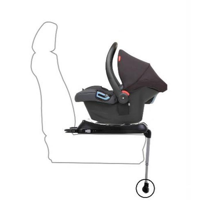 شکل 5. تکیه گاه پایینی صندلی ایمنی کودک